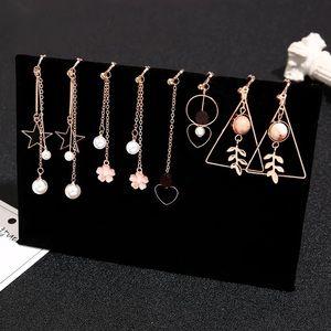 4 pairs / selected drop earrings set